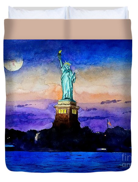 Statue Of Liberty New York Duvet Cover