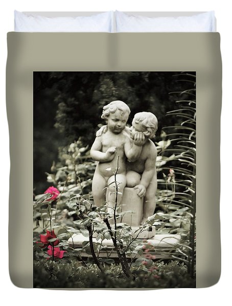 Statue Of Love Duvet Cover