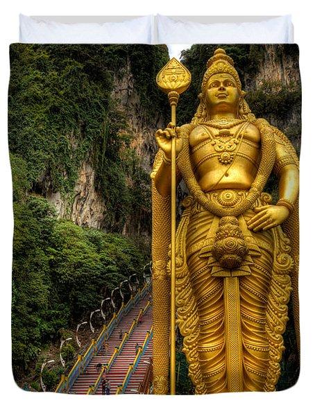 Statue Of Murugan Duvet Cover by Adrian Evans