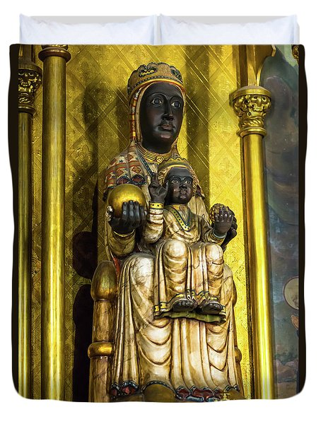 Statue Of The Virgin Mary Duvet Cover