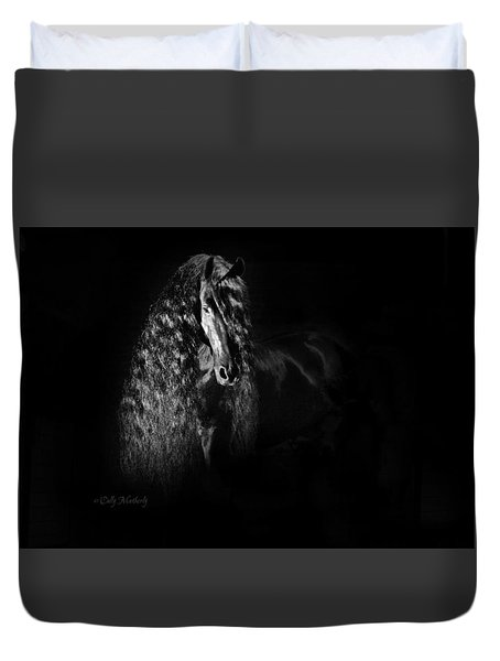 Statuesque Black Beauty Duvet Cover