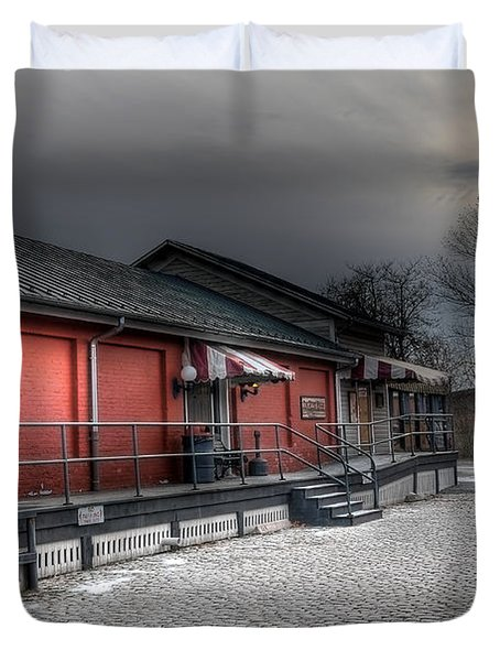 Staunton Va Train Depot Duvet Cover by Todd Hostetter