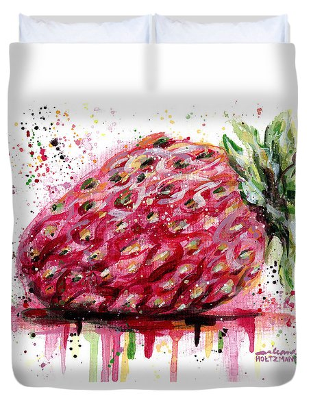 Stawberry 1 Duvet Cover by Arleana Holtzmann