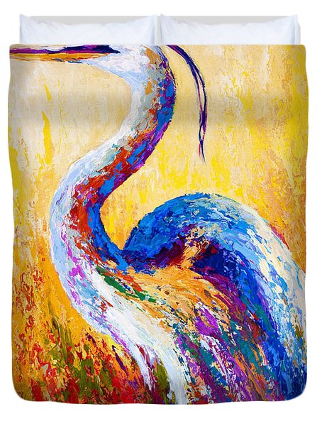 Steady Gaze - Great Blue Heron Duvet Cover