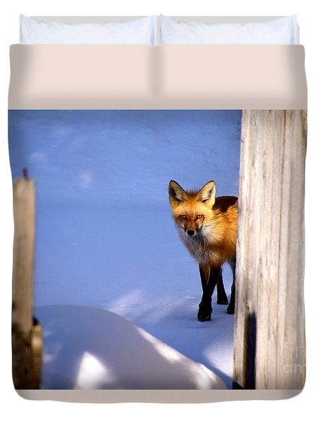 Stealthy Duvet Cover by Johanne Peale