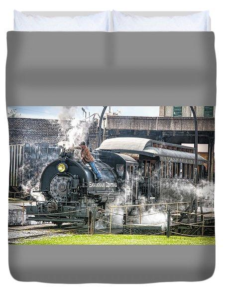 Steam Engine #30 Duvet Cover by Scott Hansen