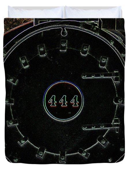 Steam Engine 444 Duvet Cover by Kim Pate