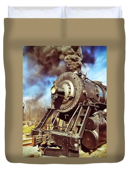 Steam Engine Duvet Cover