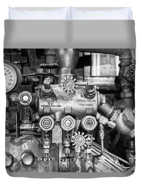Steam Engine Controls Duvet Cover