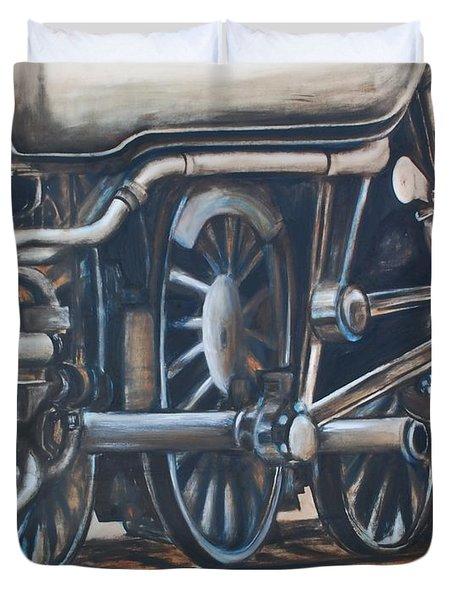 Steam Engine Wheels Duvet Cover