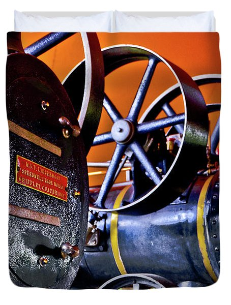 Steam Engines - Locomobiles Duvet Cover