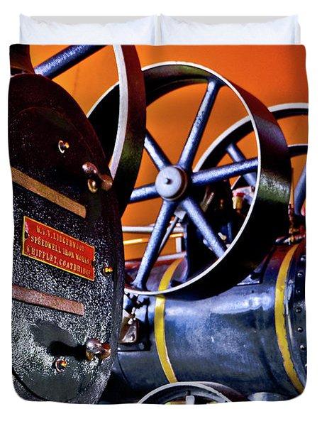 Steam Engines - Locomobiles Duvet Cover