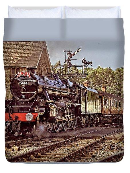 Steam Loco On Yorkshire Railway Duvet Cover