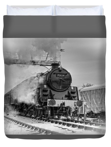 Steam Locomotive 73129 Duvet Cover