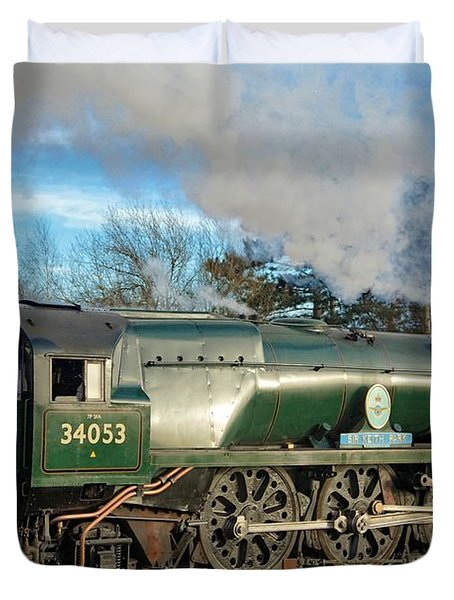 Steam Locomotive Elegance Duvet Cover