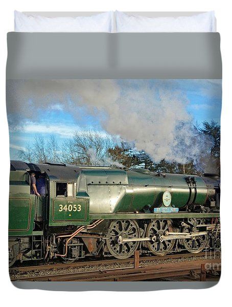 Steam Locomotive Elegance Duvet Cover