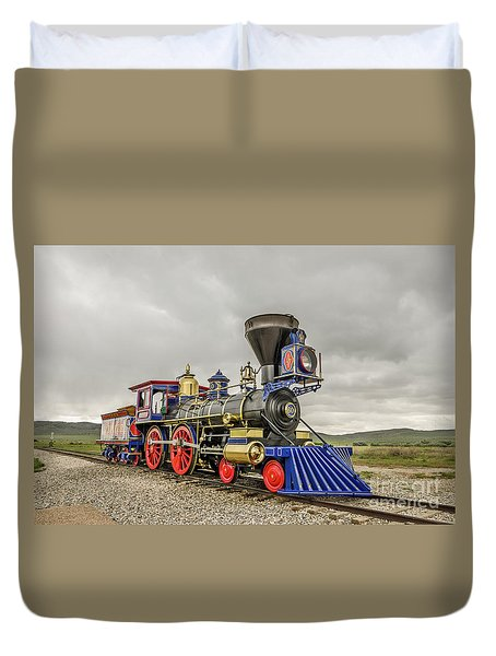 Duvet Cover featuring the photograph Steam Locomotive Jupiter by Sue Smith