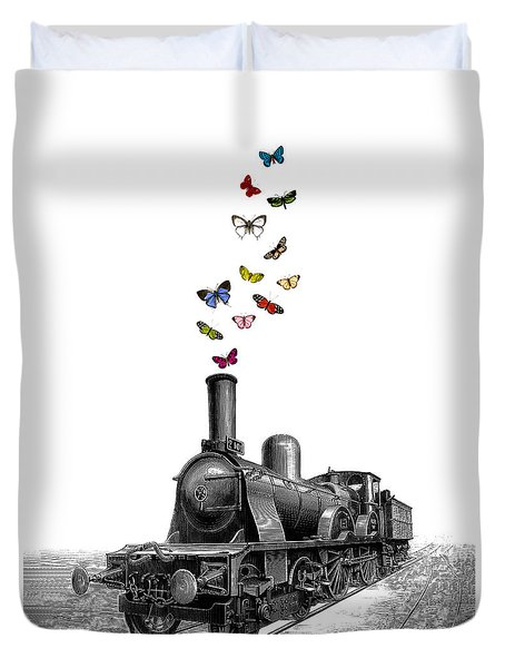 Steam Locomotive Duvet Cover