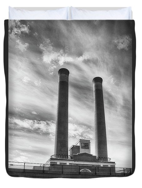 Steam Plant Square Duvet Cover