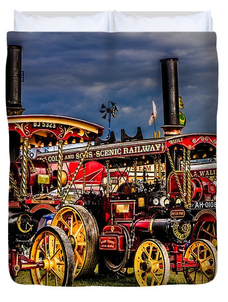 Duvet Cover featuring the photograph Steam Power by Chris Lord