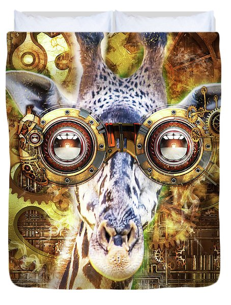 Steam Punk Giraffe Duvet Cover