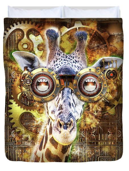 Steam Punk Giraffe Duvet Cover