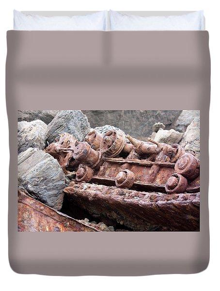 Steam Shovel Number Four Duvet Cover by Kandy Hurley