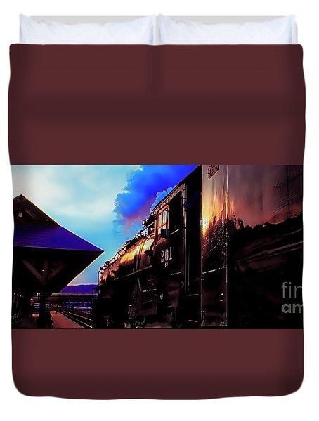 Steam Town 261 Scranton Tobyhanna Pa Station Duvet Cover