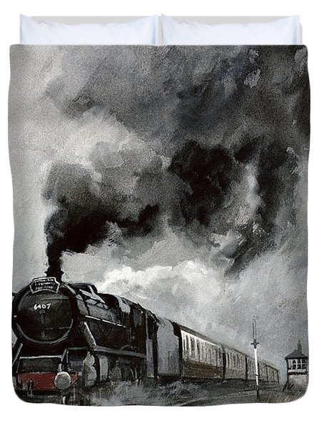 Steam Train At Garsdale - Cumbria Duvet Cover by John Cooke