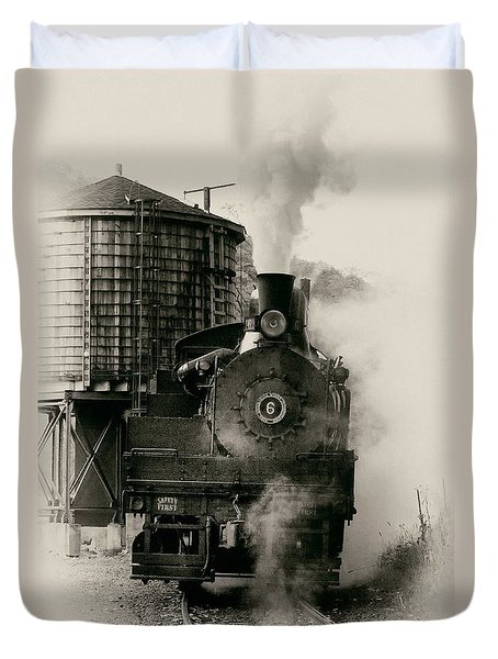 Steam Train Duvet Cover by Jerry Fornarotto