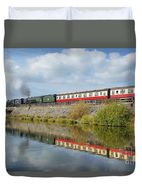 Steam Train Reflections Duvet Cover