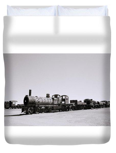 Steam Trains Duvet Cover by Shaun Higson