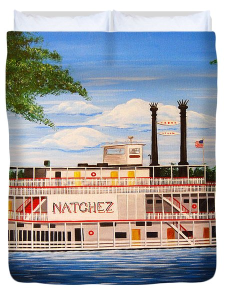 Steamboat On The Mississippi Duvet Cover