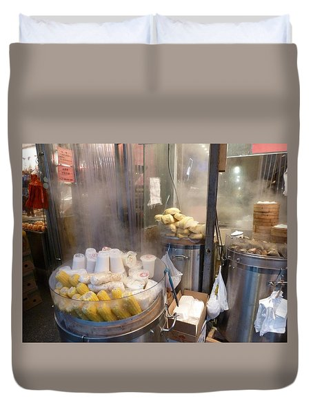 Steamed Dumplings Duvet Cover