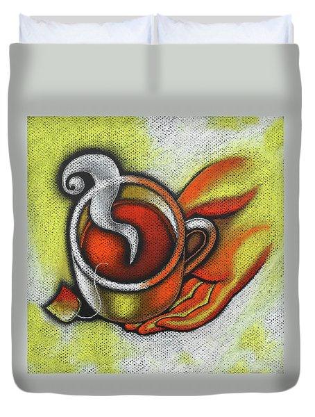 Steaming Tea Duvet Cover