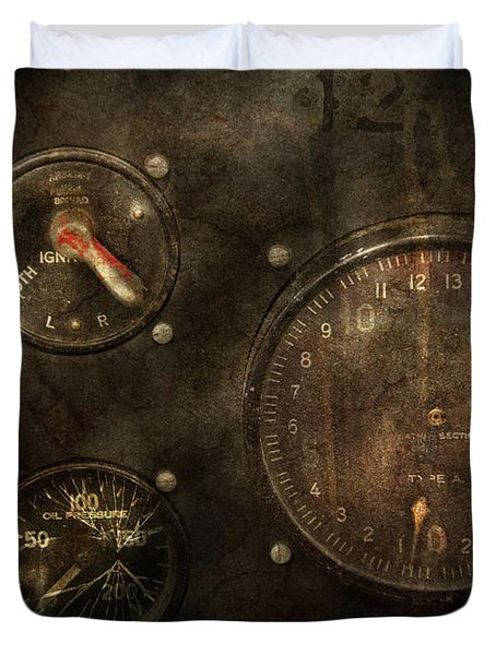 Steampunk - Check Your Pressure Duvet Cover by Mike Savad