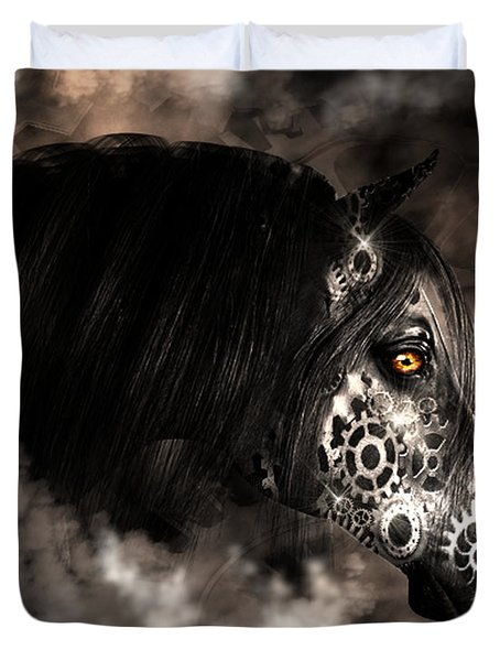 Steampunk Champion Duvet Cover
