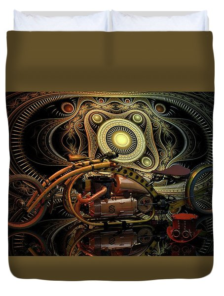 Steampunk Chopper Duvet Cover