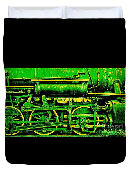 Steampunk Iron Horse No. 3 Duvet Cover