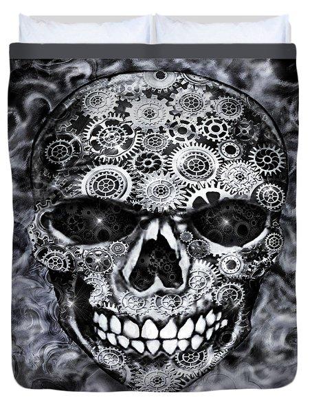 Steampunk Skull Duvet Cover