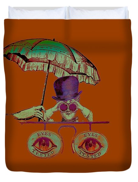 Steampunk T Shirt Design Duvet Cover by Bellesouth Studio
