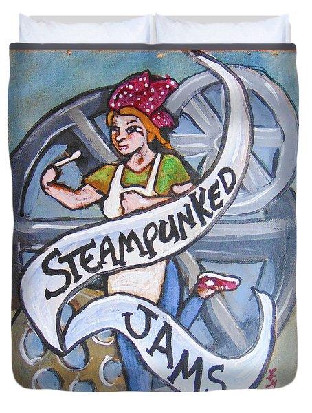 Steampunked Jams Duvet Cover by Loretta Nash
