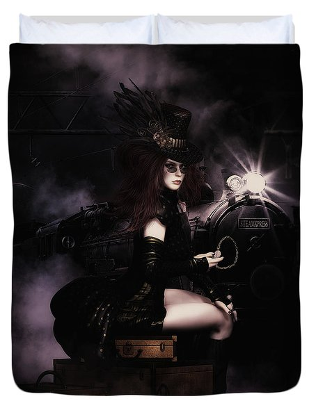Steampunkxpress Duvet Cover by Shanina Conway