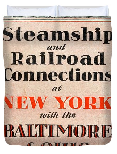 Steamship And Railroad Connections At New York Duvet Cover