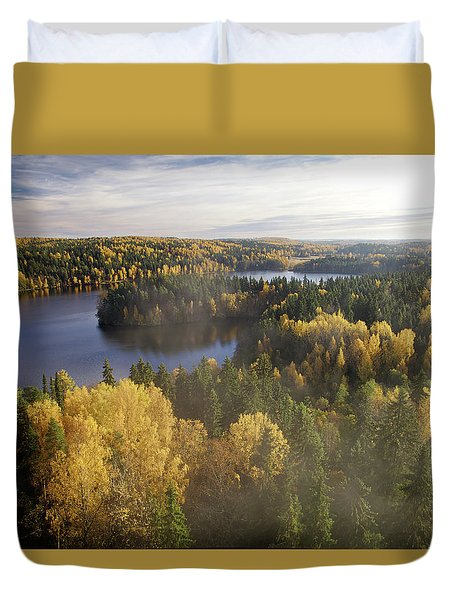 Steamy Forest Duvet Cover