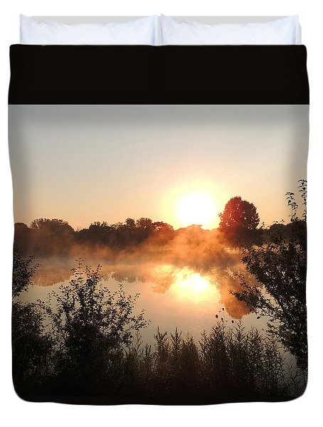Steamy Morning Duvet Cover by Teresa Schomig
