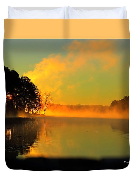 Steamy Sunrise Duvet Cover
