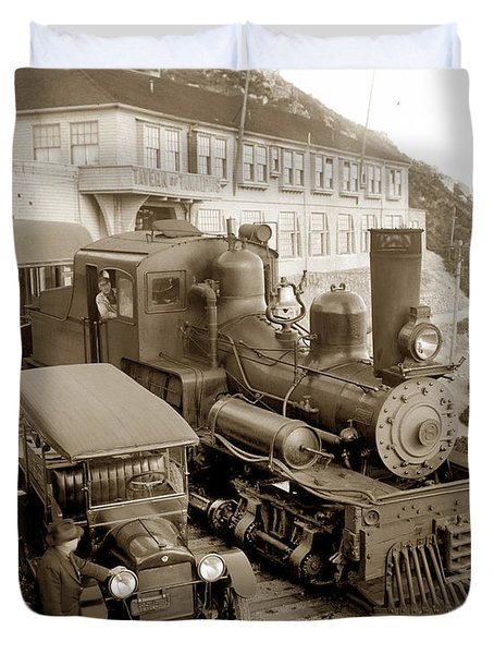 Stean Engine No. 8 Mount Tamalpais Circa 1920 Duvet Cover