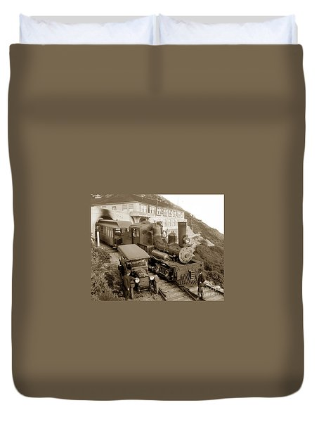 Stean Engine No. 8 Mount Tamalpais Circa 1920 Duvet Cover