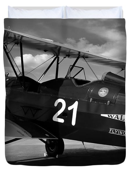 Stearman Biplane Duvet Cover by David Lee Thompson